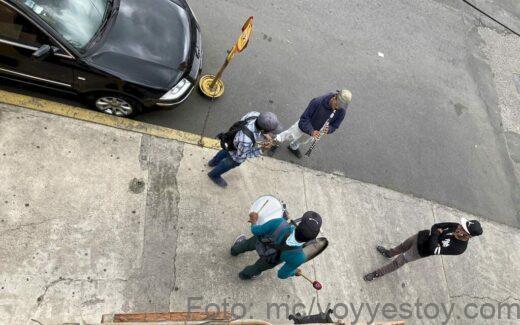 Musicos callejeros en la Ciudad de Mexico